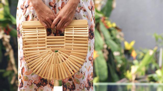 Sac en bambou naturel Médium