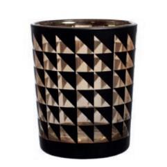Photophore Triangles Noir D5x6cm