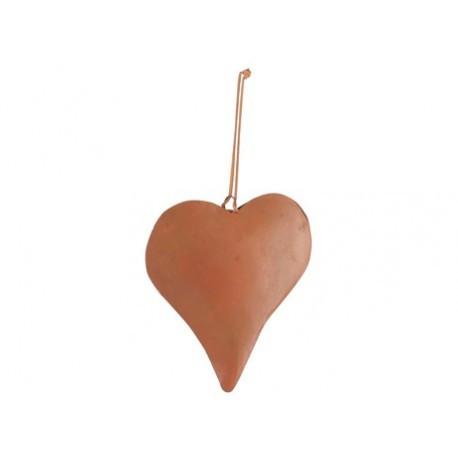 Coeur Métal Rust 14x14 cm